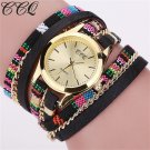 Hot Selling CCQ New Fashion Leather Bracelet Watch Casual Women Wristwatch