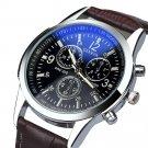 Splendid Luxury Watch Men Fashion Faux Leather Mens Business Geneva Role Bl