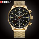 CURREN Luxury Brand Quartz Watch Men's Sport Casual Business Stainless Stee