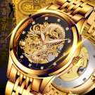 Dragon Skeleton Automatic Mechanical Watches For Men Wrist Watch Stainless