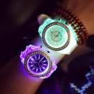 FUNIQUE Fashion Watches Men Women Watch Popular Led Light Silicone Strap Ro