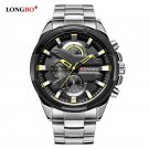 LONGBO Military Men Stainless Steel Band Sports Watches Dynamic Dial Clock