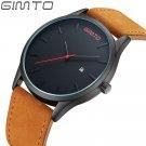 GIMTO Men Watches Fashion Leather Waterproof Quartz Wrist Watch Top Brand L