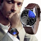 Luxury Creative Fashion Men Necessary Business Watch Faux Leather Mens Anal