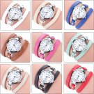 2017 Fashion New Summer Style Leather Casual Bracelet Watch Wristwatch Wome