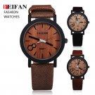 Feifan Unique Vogue Mens Quartz Watches Wooden Outdoor Sport Watches Popula