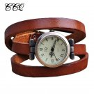 Fashion Vintage Long Band Genuine leather Watch Women Brand ROMA Header Lad
