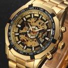 2017 Top Brand Luxury Stylish Classic Men's Black Watch Automatic Skeleton