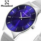 Readeel Men Watches Top Brand Luxury Blue Dial Ultra Thin Date Clock Male S