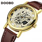 2017 DOOBO Brand Mens Watches Luxury Military Sport Wristwatch Leather Holl