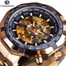 Forsining Mens Watches Top Brand Luxury Golden Men Automatic Skeleton Watch