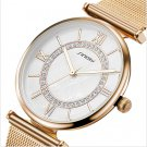 SINOBI Fashion Gold Watches Top Brand Women's Watches Luxury Diamond Ladies