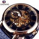 Forsining Men Watches Top Brand Luxury Mechanical Skeleton Watch Black Gold