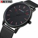 Fashion Top Luxury brand CURREN Watches men Stainless Steel Mesh strap Quar