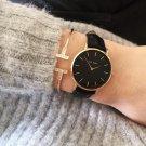 KLARF Famous Brand Women Watches Stainless steel Golden Mesh Quartz Wristwa
