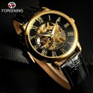 Top Luxury Brand FORSINING Men Watches Male Business Clock Men Leather Stra