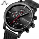 Men Watches 2017 MEGIR New Chronograph Steel Watch Men Luxury Brand Famous