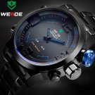 Top Luxury Brand WEIDE Men Full Steel Watches Men's Quartz Analog LED Clock