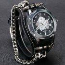 New Arrival Cool Punk Bracelet Quartz Watch Wristwatch Skull Bullet Chain G