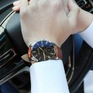 zhoulianfa Blue Ray Men's Watches Glass Fashion Dress Luxury PU Leather Qua