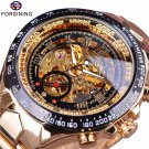 Forsining Stainless Steel Classic Series Transparent Golden Movement Steamp