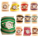 2017 Hot Sell Korean Style Retro Bracelet Watches Woman Casual Knit Long Le