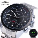 Winner Men's Automatic Mechanical Watch Stainless Steel Strap Date Calendar