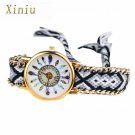 New Design Relogio Feminino Retro Clock Women Girl watches Handmade Braided