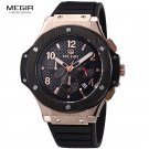 MEGIR hot casual quartz watches men fashion waterproof sport running watch