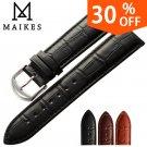 MAIKES New watch bracelet belt black watchbands genuine leather strap watch