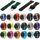 18 Colors Rubber Wrist Strap for Samsung Gear S3 Frontier Silicone Watch Ba