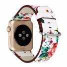 Leather Watch Band for Apple Watch 38mm 42mm Series 1 Series 2 Series 3 Flo