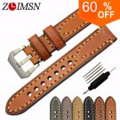 ZLIMSN Genuine Leather Watchbands Men Women Italy Watch Band Strap for Pane