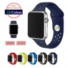 Nice Silicone sport hole strap for iwatch band For Apple Watch 42mm 38 Seri