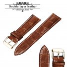 100% Genuine Leather Watch Band Strap  20mm 22mm 24mm Brown Black Woman Man
