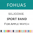 fohuas new Silicon Sports Band Strap 38mm For Apple Watch Accessory Wristba