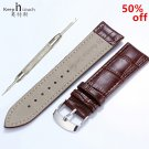 Hight Quality 20mm Watch Band Leather 22mm Men Women Brown Waterproof Watch