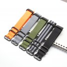 Nato Solid Black Buckle Stripe Orange ZULU 20mm 22mm 24mm Watchbands Men Wo