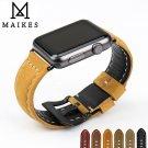 MAIKES Novel design watchbands genuine leather watch strap watch bracelet f