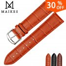 MAIKES HQ watchbands genuine leather strap watch accessories 16mm 18mm 20mm
