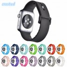 CRESTED Sport Silicone band strap For Apple Watch band 42 mm 38 mm Rubber