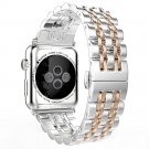 Metal Stainless Steel 7 Points Watch Band for Apple Watch Iwatch Strap Blac