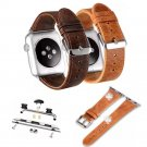 Retro Style Genuine Leather Strap For Apple Watch iWatch 42mm 38mm Vintage