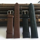 Watchband12mm to 20mm black Brown PU strap watch 2017 new fashion factory h