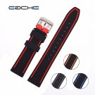 EACHE colorful watch band 20mm,22mm,24mm,26mm Silicone Rubber Watch Straps
