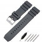 HENGRC Watchbands 18 20 22mm Men Sport Diving Silicone Watch Band Strap Sta