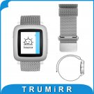 22mm Milanese Loop Band Stainless Steel Bracelet Magnetic Strap for Pebble