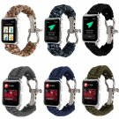 Outdoors Sports Wrist Strap For Apple Watch Band 42mm 38mm Survival Rope Me