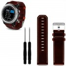 Hot hothot New Luxury Leather Strap Replacement Watch Band Strap 2pc Screwd