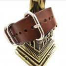 1PCS High quality 18MM 20MM 22MM Nato strap genuine leather dark coffee col